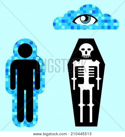 Afterlife Soul Person Death Vector Illustration Clip-art