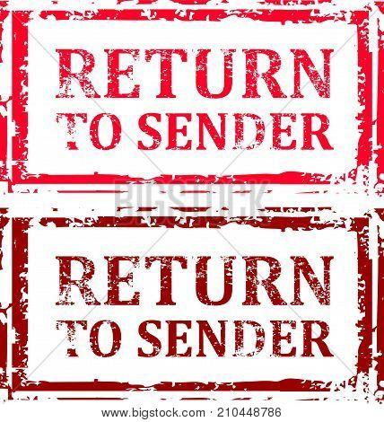 Return To Sender Grunge Stamp Vector Eps