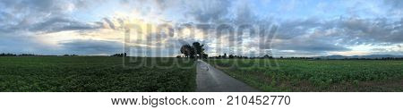 Panorama of an agriculture landscape in Germany