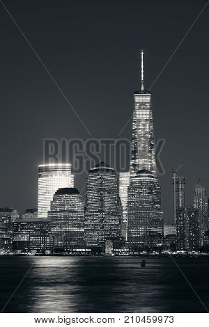 NEW YORK CITY - NOV 12: One World Trade Center and skyscrapers on November 12, 2014 in Manhattan, New York City. With population of 8.4M, it is the most populous city in the United States.