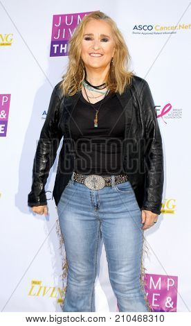 Melissa Etheridge arrives aat the taping of