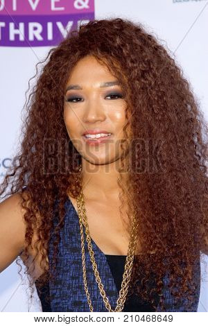 Judith Hill arrives at the taping of