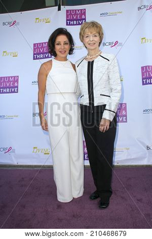 Valorie Kondos Field and Shirley A. Mertz arrives at the taping of