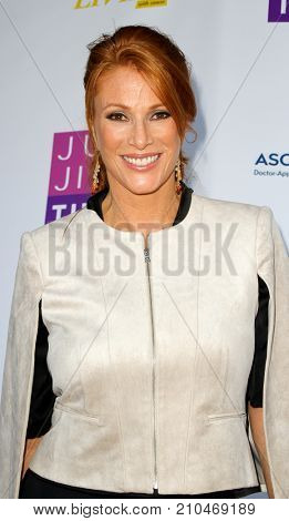 Angie Everhart arrives at the taping of