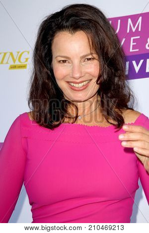 Fran Drescher arrives at the taping of