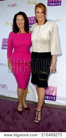 Fran Drescher and Angie Everhart arrives at the taping of
