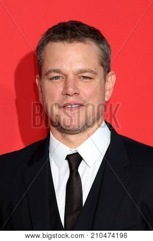 LOS ANGELES - OCT 22:  Matt Damon at the