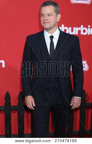 LOS ANGELES - OCT 22:  Matt Damon at the