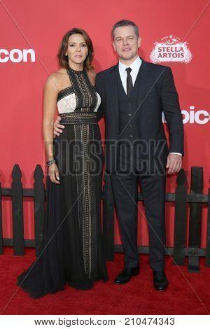 LOS ANGELES - OCT 22:  Luciana Damon, Matt Damon at the