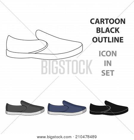 Blue men summer espadrilles . Summer comfortable shoes on the bare feet for everyday wear.Different shoes single icon in cartoon style vector symbol stock web illustration.
