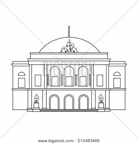 Building, single icon in outline style.Building vector symbol stock illustration .
