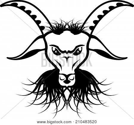 Devil evil goat satan illustration clip-art image eps