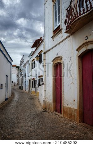 Empty street in the typical village of Alte, Algarve - Portugal