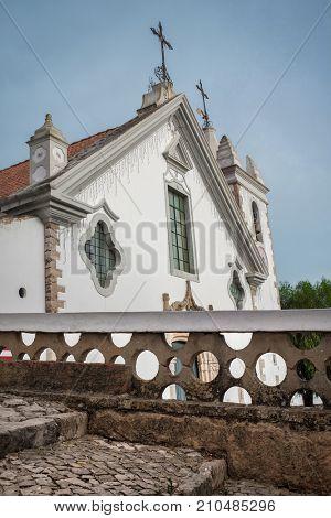 Facade of rural church in Alte, Algrarve - Portugal