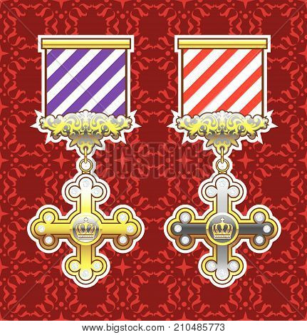 Royal medal historical noble cross vector file