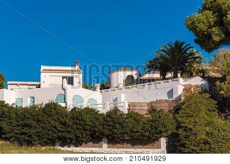 View Of The Building On The Coast Of Costa Dorada In Miami Platja, Tarragona, Catalunya, Spain. Copy