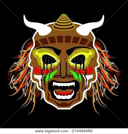 Ritual african mask vector illustration clip-art image