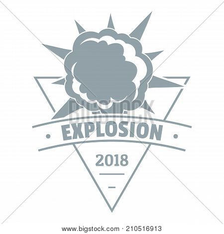 Powerful explosion logo. Simple illustration of powerful explosion vector logo for web