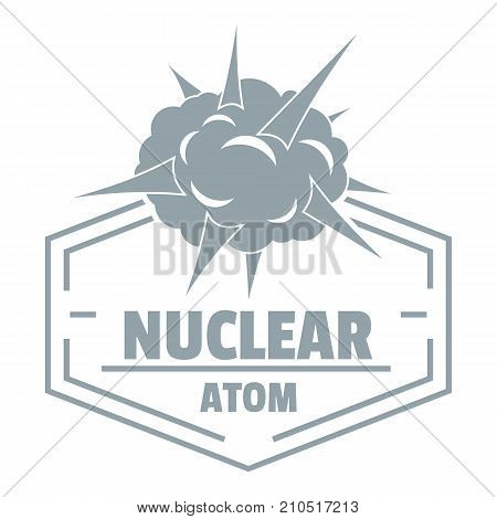 Nuclear explosion logo. Simple illustration of nuclear explosion vector logo for web