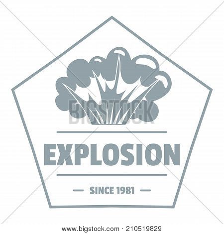 Weapon explosion logo. Simple illustration of weapon explosion vector logo for web
