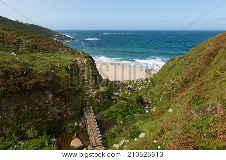 Coast path towards Portheras Cove Cornwall located South West of St Ives between Pendeen and Morvah
