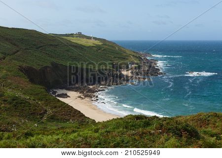 Portheras Cove Cornwall secluded beach hidden gem on the Cornish coast South West of St Ives between Pendeen and Morvah
