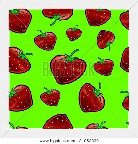 Strawberry Repeat Pattern