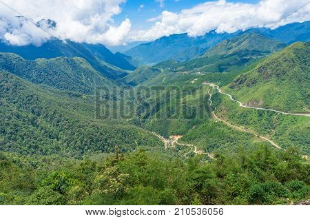 Spectacular Landscape Of Mountain Valley