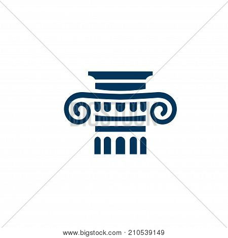 legal logo concept, Law logo sign. Classic logo sign. Architecture element logo, column logo concept
