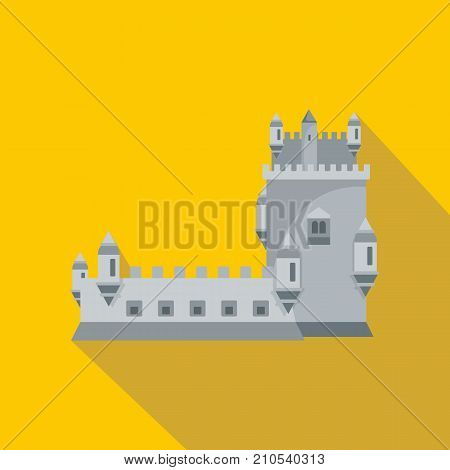 History castle icon. Flat illustration of history castle vector icon for web
