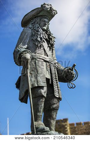 CARRICKFERGUS NORTHERN IRELAND - APRIL 20: King William of Orange 11 September 2017 at Carrickfergus. William landed here at 1690 to defeat the Catholic forces.