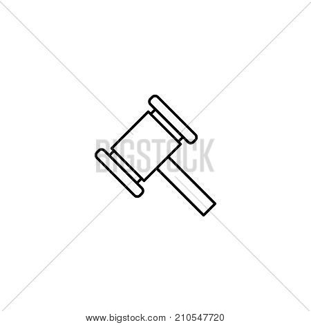 Modern auction line icon. Premium pictogram isolated on a white background. Vector illustration. Stroke high quality symbol. Auction icon in modern line style.