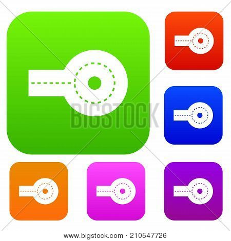 Circular impasse set icon color in flat style isolated on white. Collection sings vector illustration