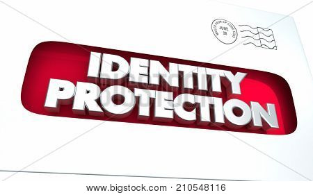 Identity Protection Envelope Prevent Theft Offer 3d Illustration