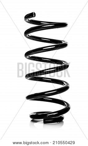 Springs of a car suspension on a white background.