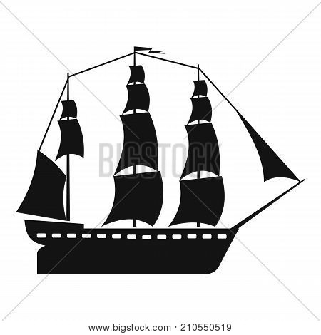 Sailboat icon. Simple illustration of sailboat vector icon for web