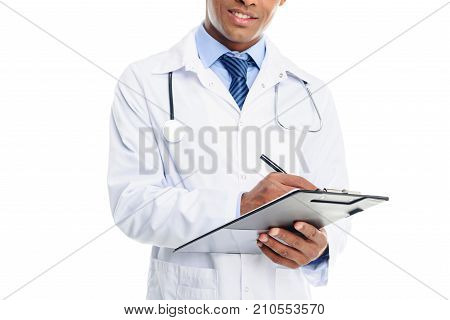 Doctor Writing Diagnosis