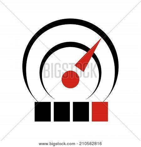 Temperature sensor icon. Simple illustration of water temperature sensor isolated logotype vector for web.