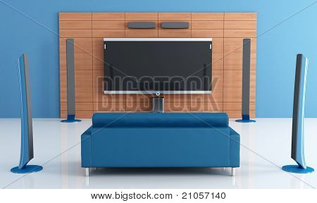 Blue Home Theater