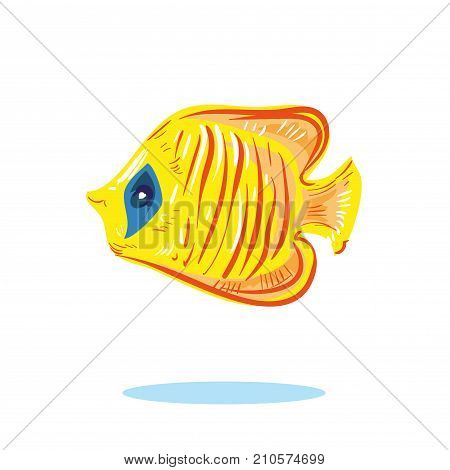 illustration of Cute fish cartoon vector stock art