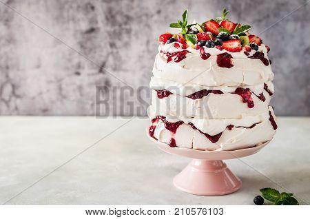 Three Layer Pavlova Cake