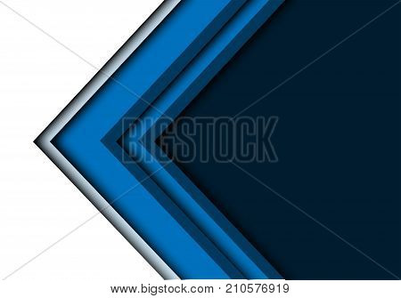 Abstract blue arrow overlap on white design modern futuristic background vector illustration.