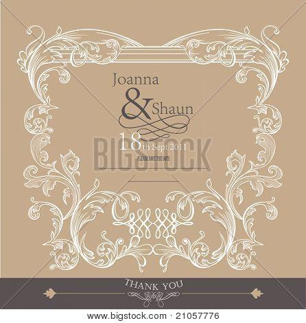 romantic card design-matrimonio o copertura di imballaggio