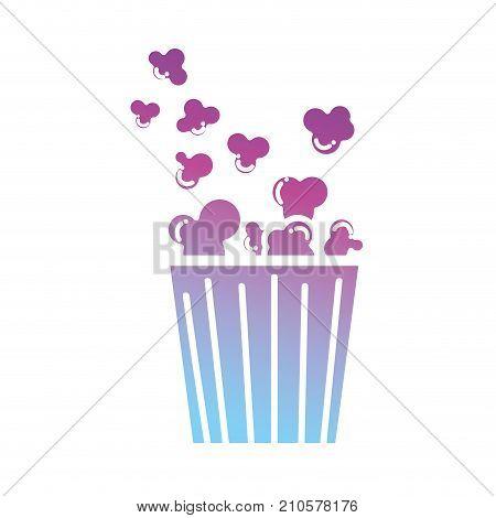 contour popcorn food to cinema entertainment vector illustration