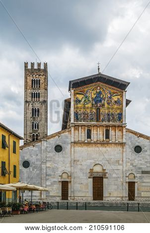 The Basilica of San Frediano is a Romanesque church in Lucca Italy.