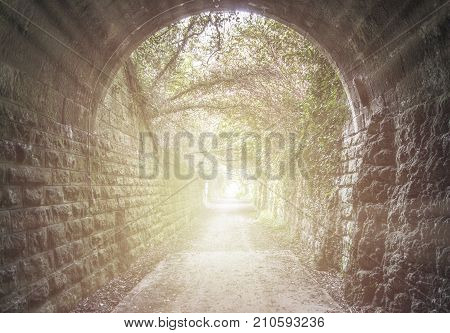 The Light At The End Of The Tunnel In Caudiel, Castellon