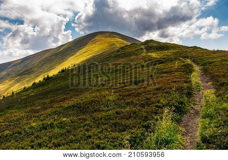 Path Uphill The Mountain Ridge