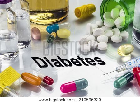 Diabetes, Medicines As Concept Of Ordinary Treatment, Conceptual Image