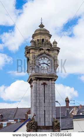 Old Clock Tower in Exeter. Devon. England