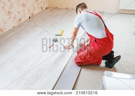 Handyman Laying Down Image Photo Free Trial Bigstock